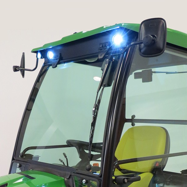 cozy cab cab to fit john deere x700 signature series tractor front led light kit