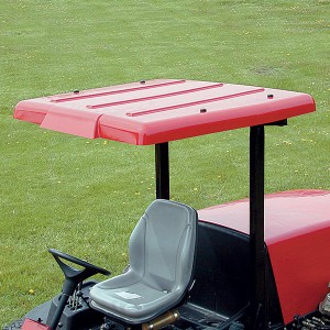 Wide Folding Plastic Sunshade for Lawn Tractors