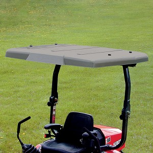 Wide Folding Plastic Sunshade for Mowers or Tractors