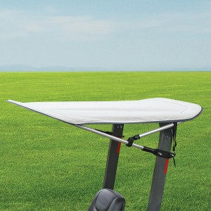 Narrow Folding Sunshade in Gray for Tractors and Mowers