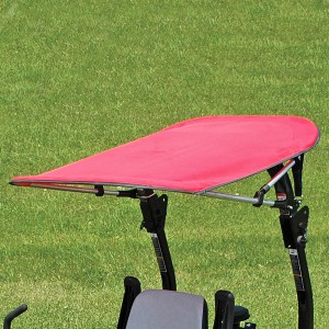 Narrow Folding Sunshade for Tractors and Mowers